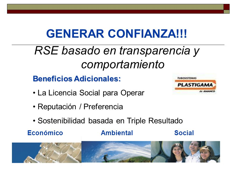 RSE basado en transparencia y comportamiento
