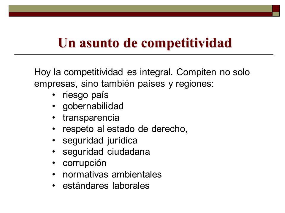 Un asunto de competitividad