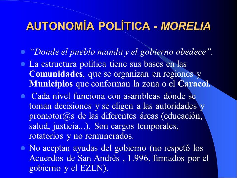 AUTONOMÍA POLÍTICA - MORELIA