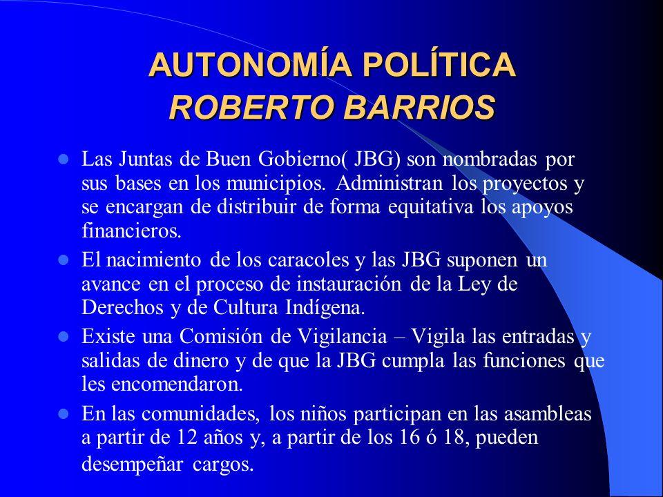AUTONOMÍA POLÍTICA ROBERTO BARRIOS