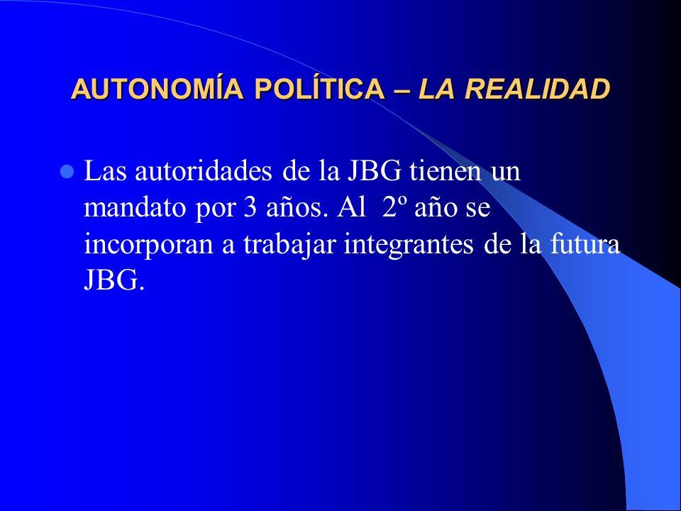 AUTONOMÍA POLÍTICA – LA REALIDAD