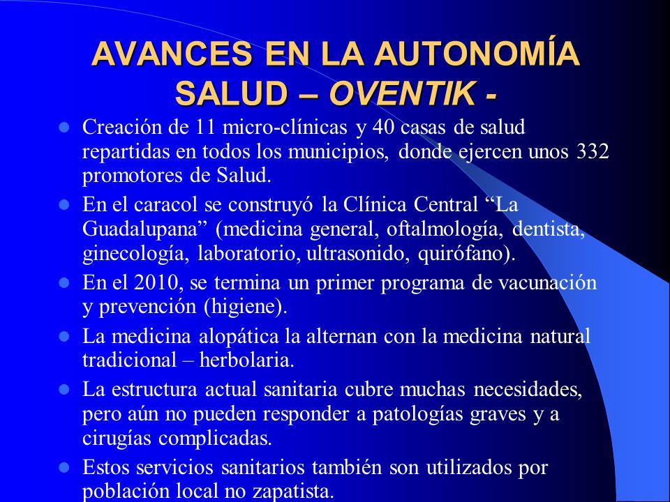 AVANCES EN LA AUTONOMÍA SALUD – OVENTIK -