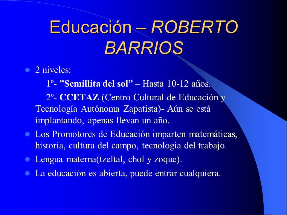 Educación – ROBERTO BARRIOS