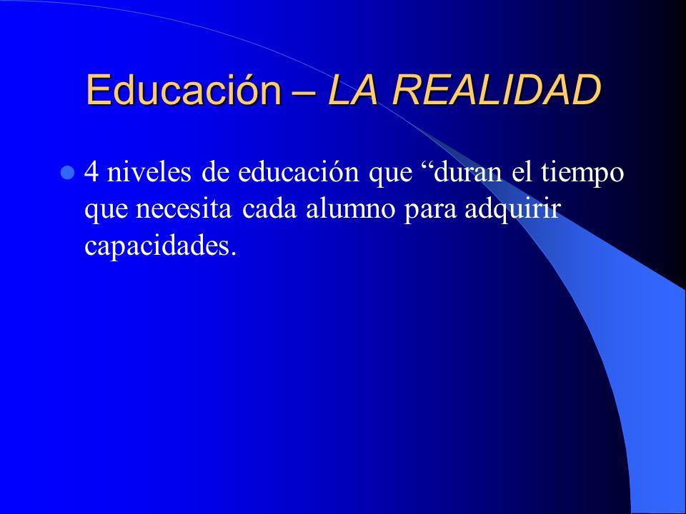 Educación – LA REALIDAD