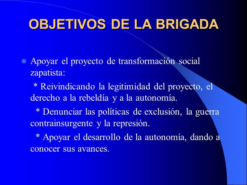 OBJETIVOS DE LA BRIGADA