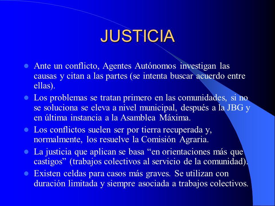 JUSTICIA Ante un conflicto, Agentes Autónomos investigan las causas y citan a las partes (se intenta buscar acuerdo entre ellas).