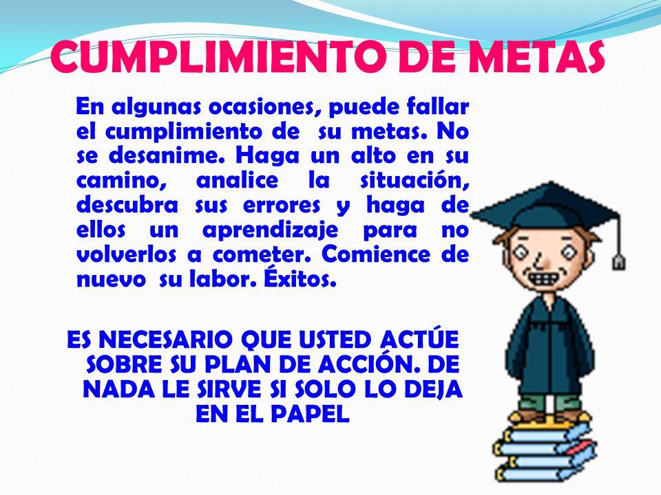 CUMPLIMIENTO DE METAS