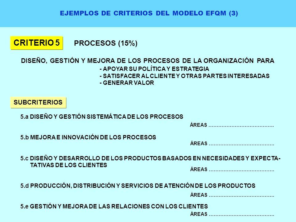 EJEMPLOS DE CRITERIOS DEL MODELO EFQM (3)