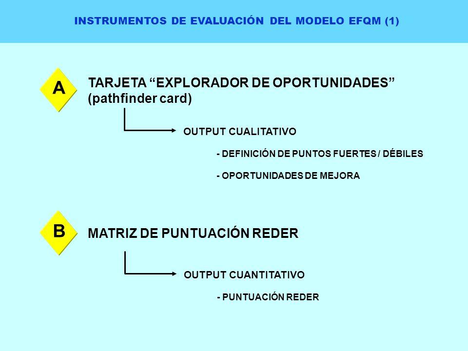 INSTRUMENTOS DE EVALUACIÓN DEL MODELO EFQM (1)