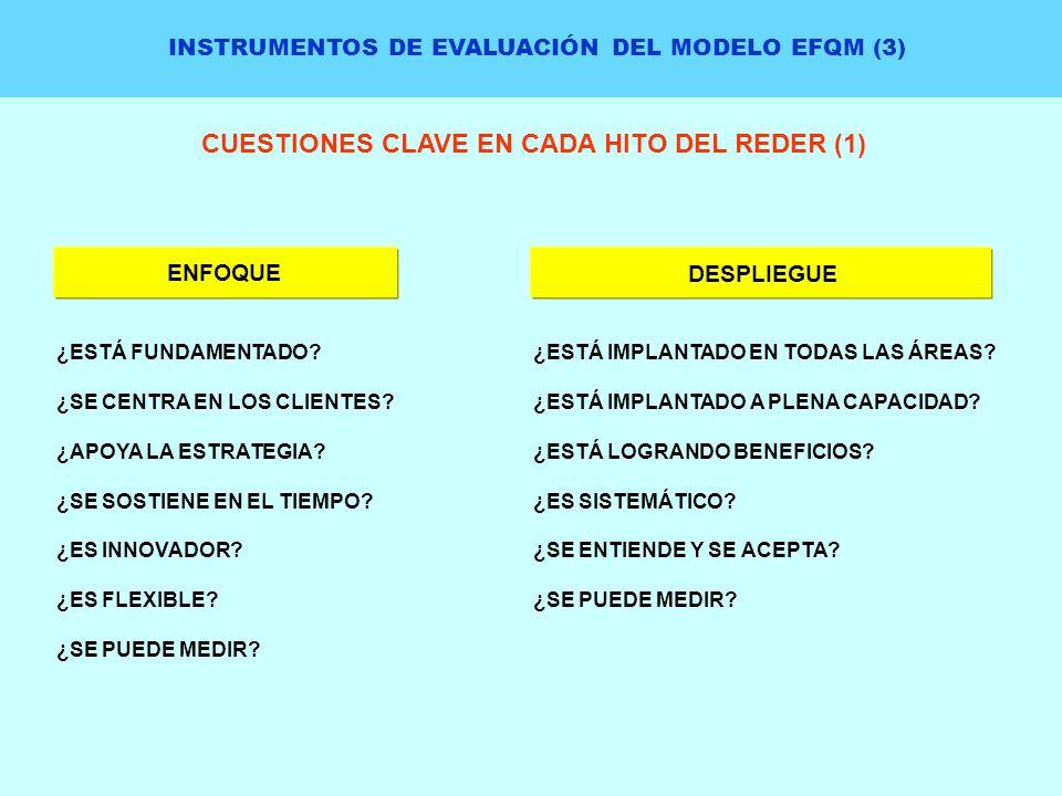 CUESTIONES CLAVE EN CADA HITO DEL REDER (1)