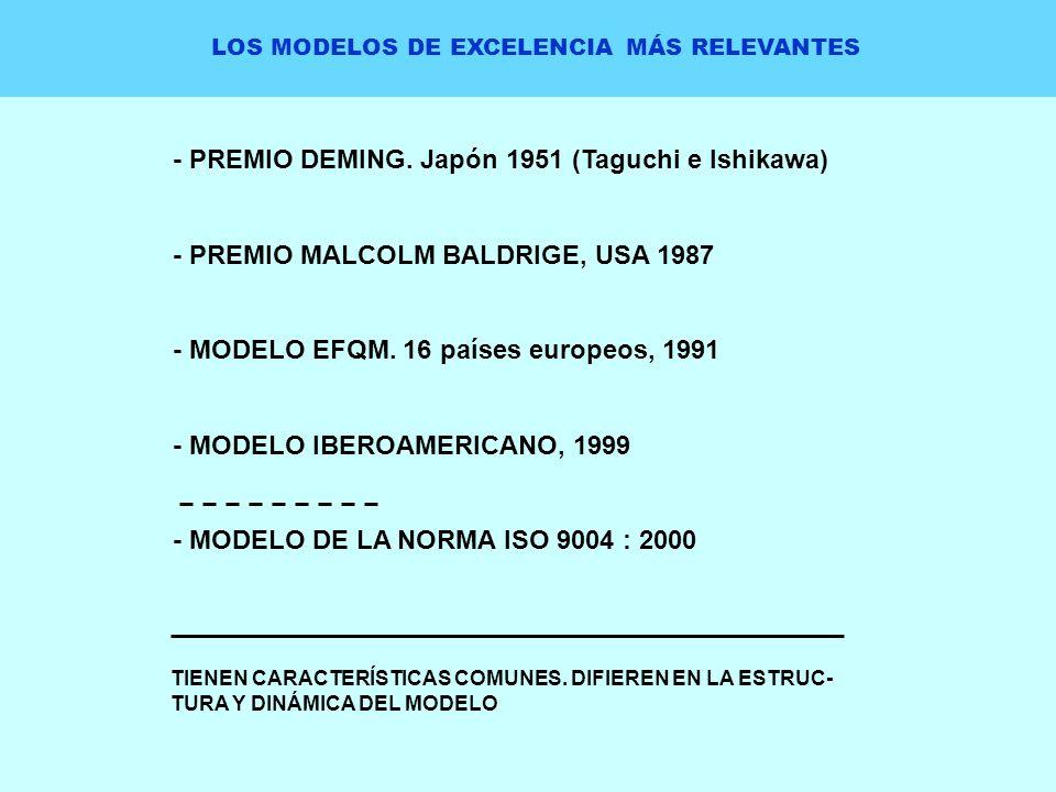 LOS MODELOS DE EXCELENCIA MÁS RELEVANTES