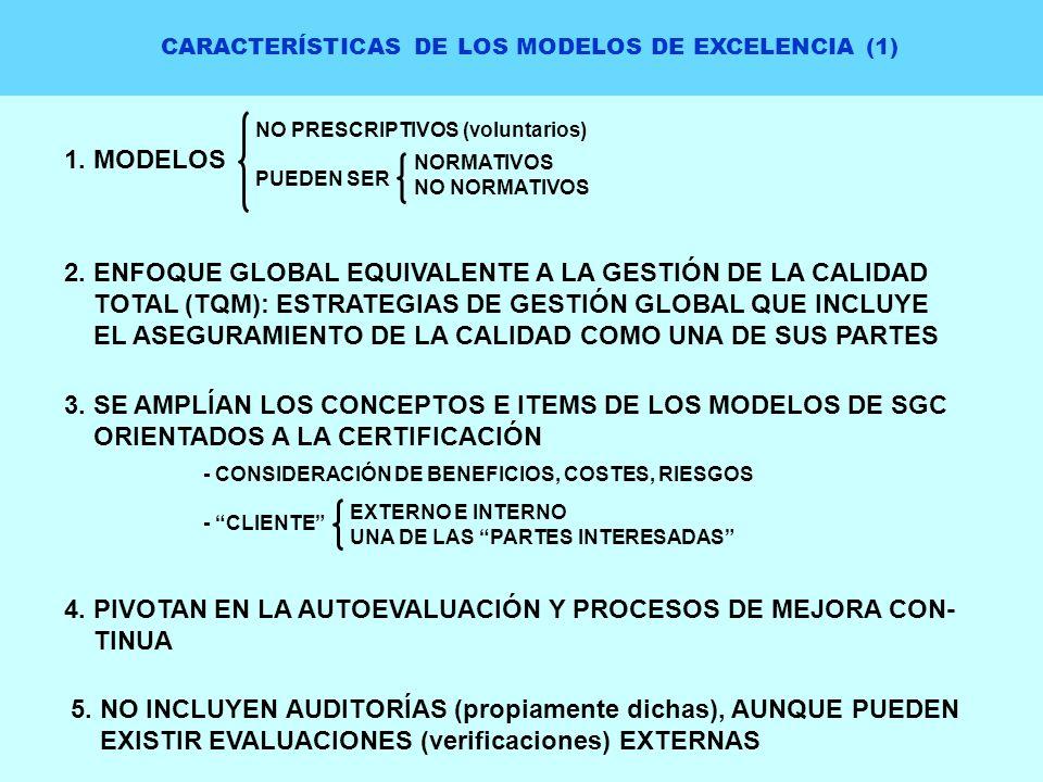 CARACTERÍSTICAS DE LOS MODELOS DE EXCELENCIA (1)