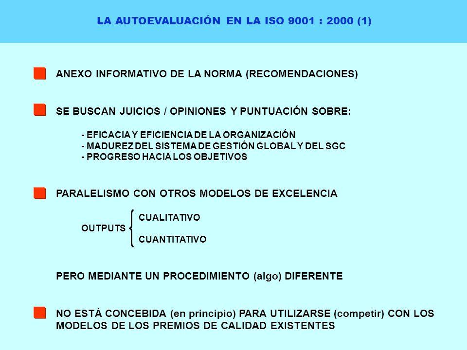 LA AUTOEVALUACIÓN EN LA ISO 9001 : 2000 (1)