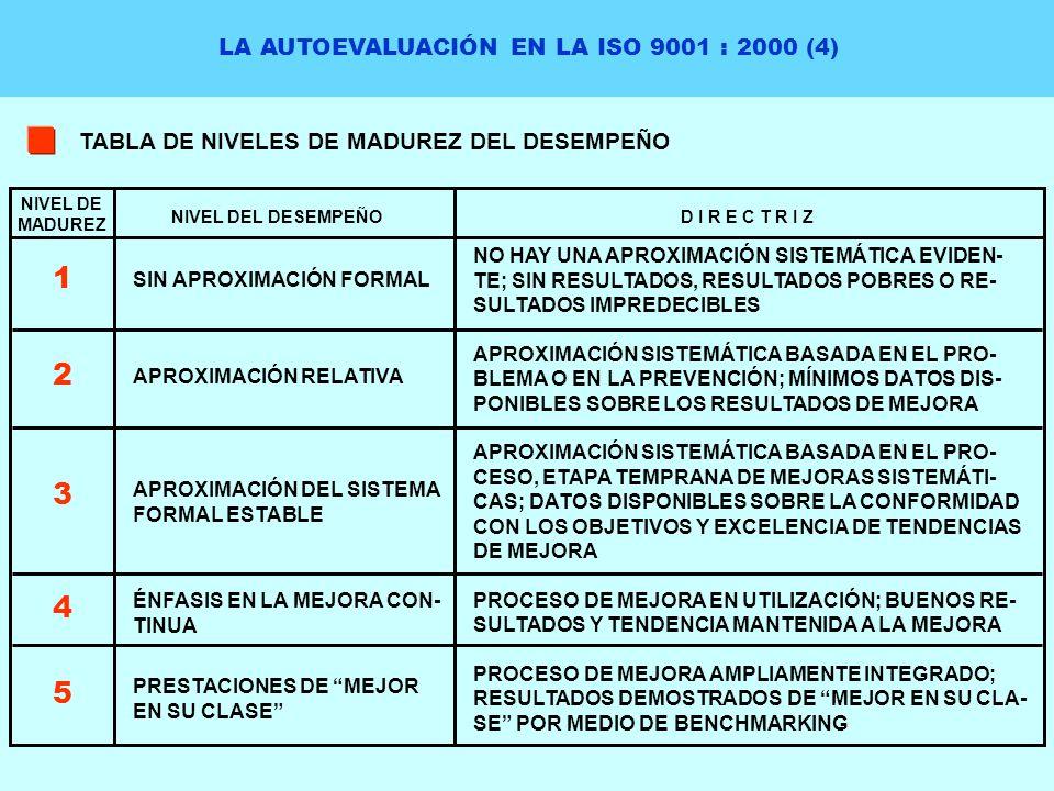 LA AUTOEVALUACIÓN EN LA ISO 9001 : 2000 (4)