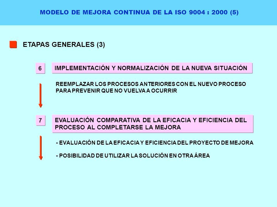 MODELO DE MEJORA CONTINUA DE LA ISO 9004 : 2000 (5)