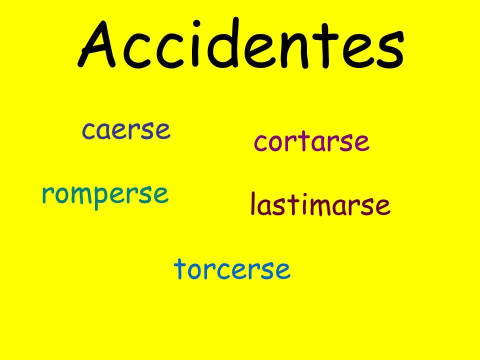 Accidentes caerse cortarse romperse lastimarse torcerse