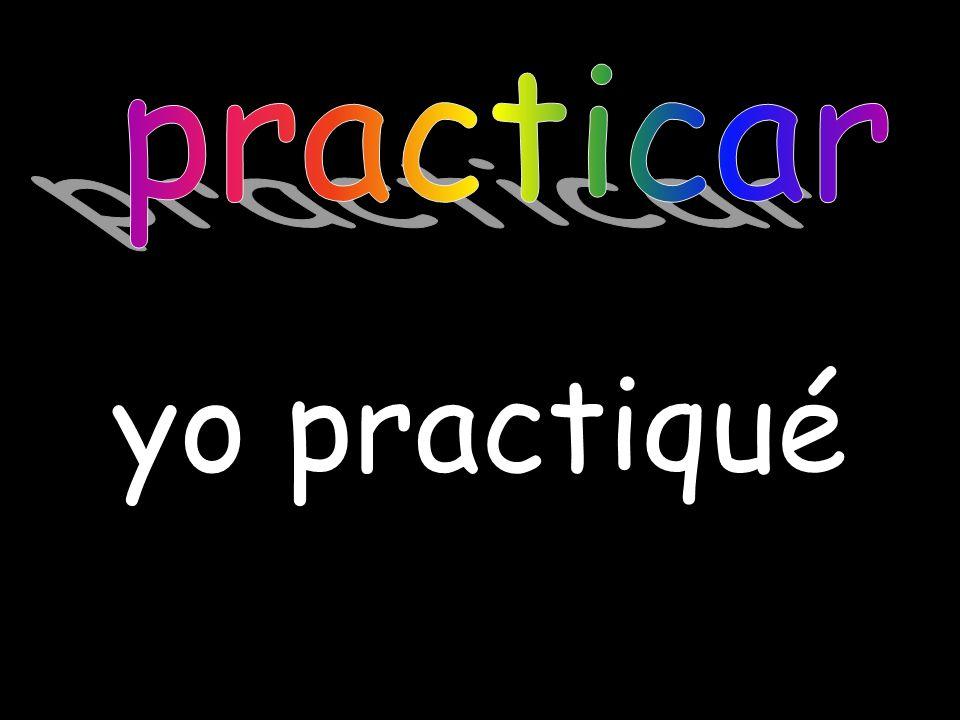 practicar yo practiqué