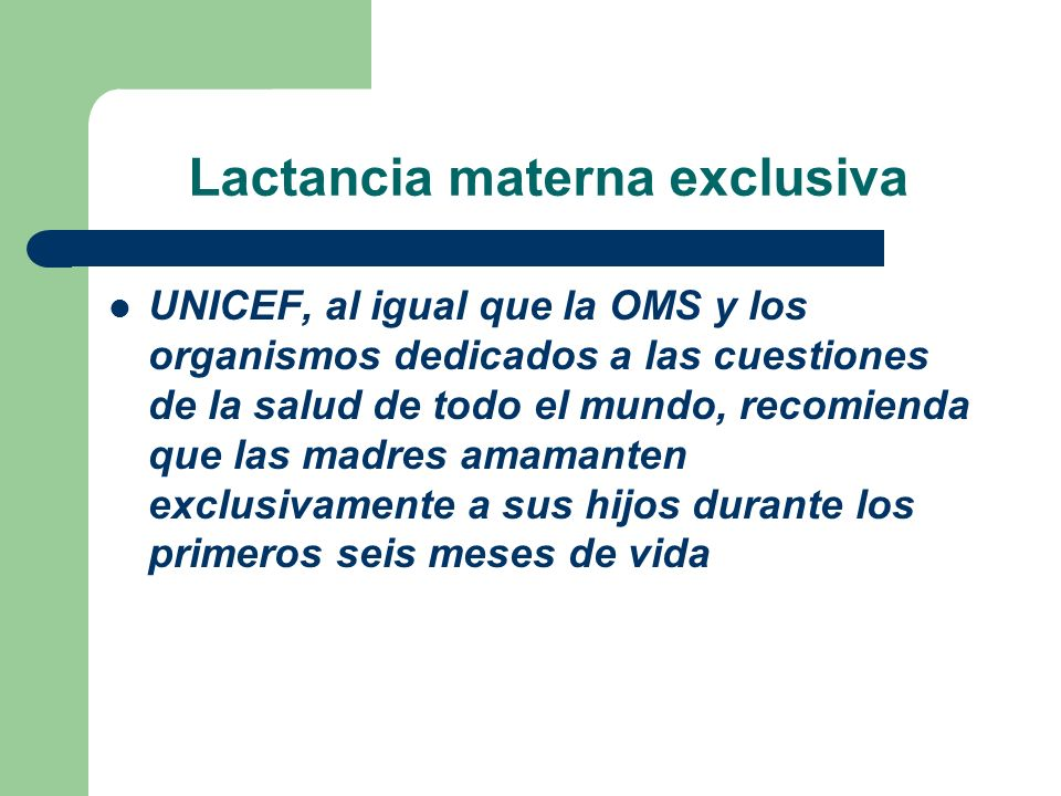 Lactancia materna exclusiva