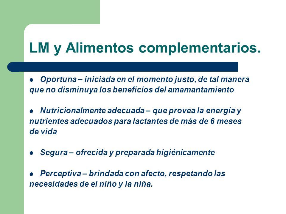 LM y Alimentos complementarios.