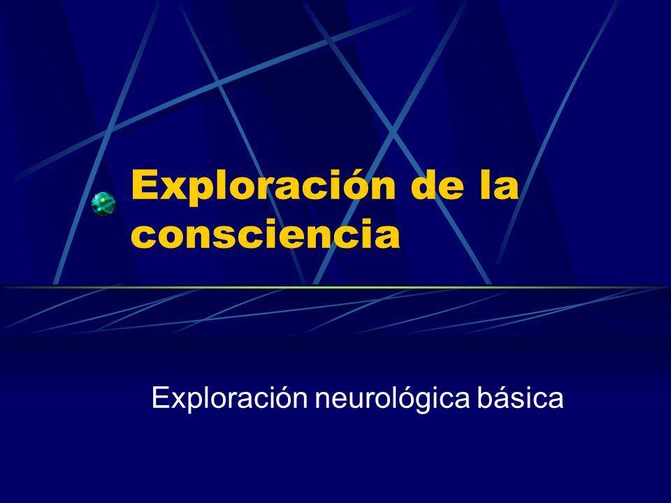 Exploración de la consciencia