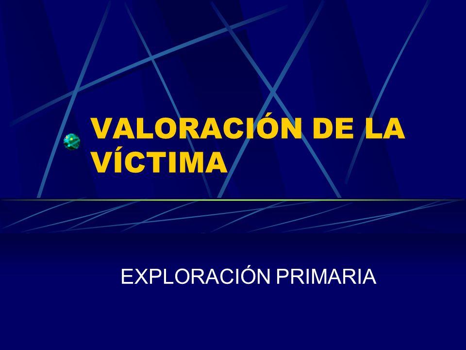 VALORACIÓN DE LA VÍCTIMA