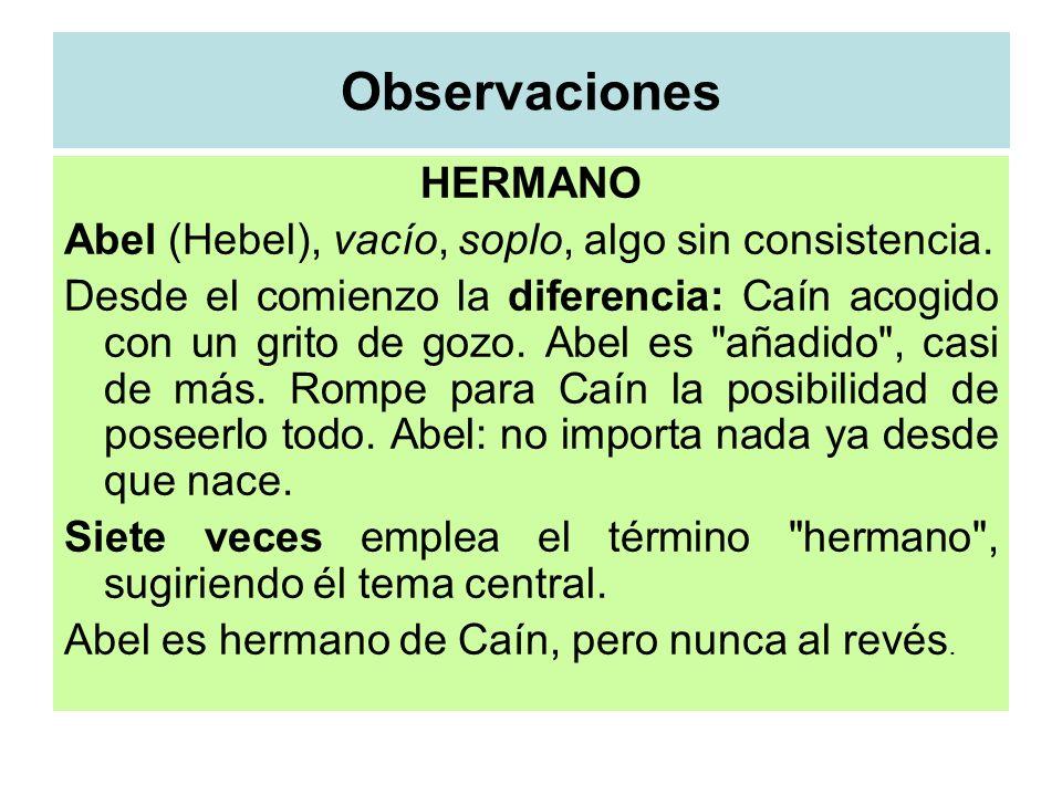 Observaciones HERMANO