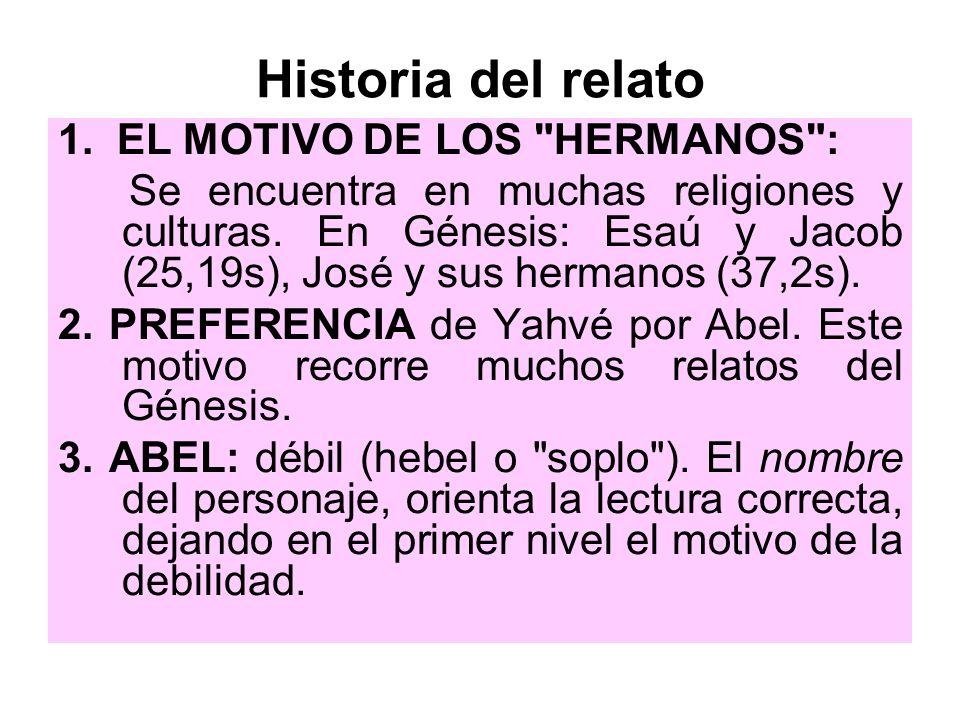 Historia del relato 1. EL MOTIVO DE LOS HERMANOS :
