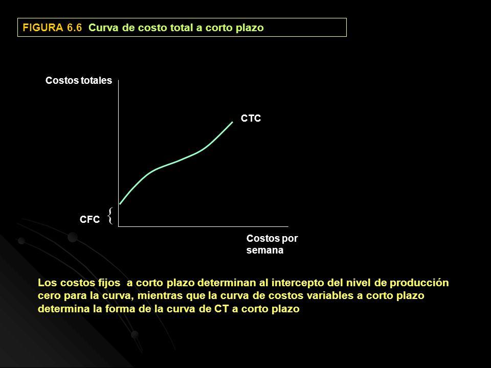  FIGURA 6.6 Curva de costo total a corto plazo