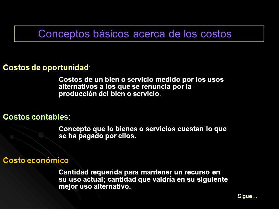 Conceptos básicos acerca de los costos