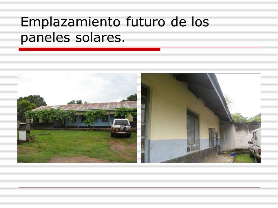 Emplazamiento futuro de los paneles solares.