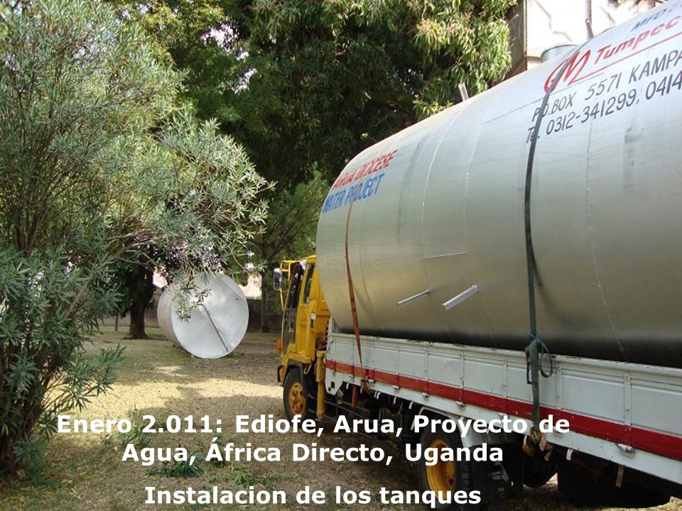 Enero 2.011: Ediofe, Arua, Proyecto de Agua, África Directo, Uganda