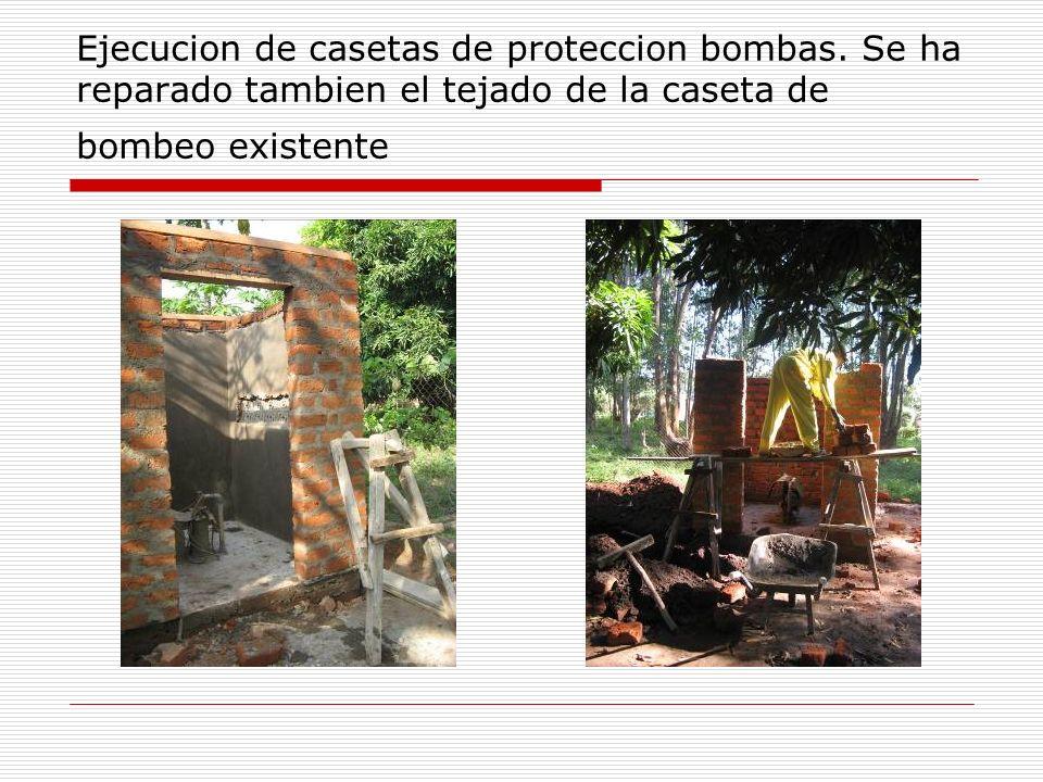 Ejecucion de casetas de proteccion bombas