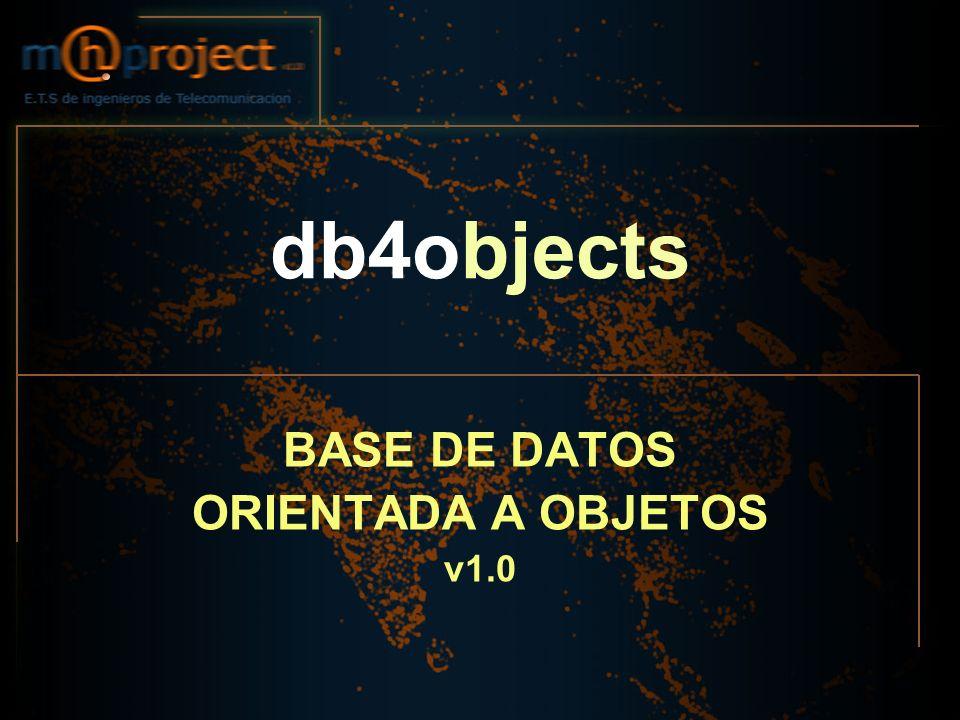 BASE DE DATOS ORIENTADA A OBJETOS v1.0
