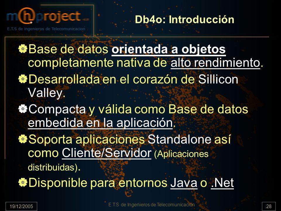 E.T.S de Ingenieros de Telecomunicación