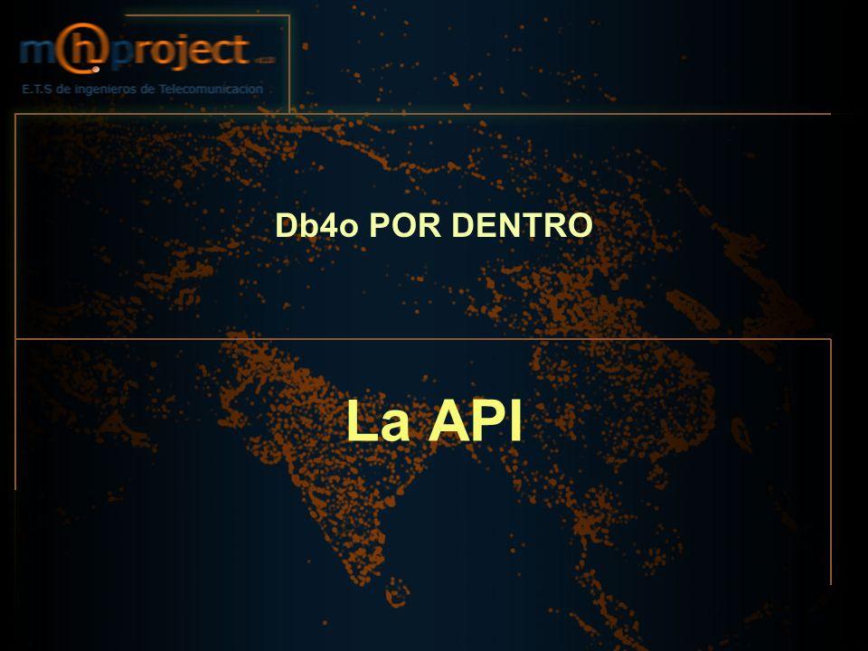 Db4o POR DENTRO La API