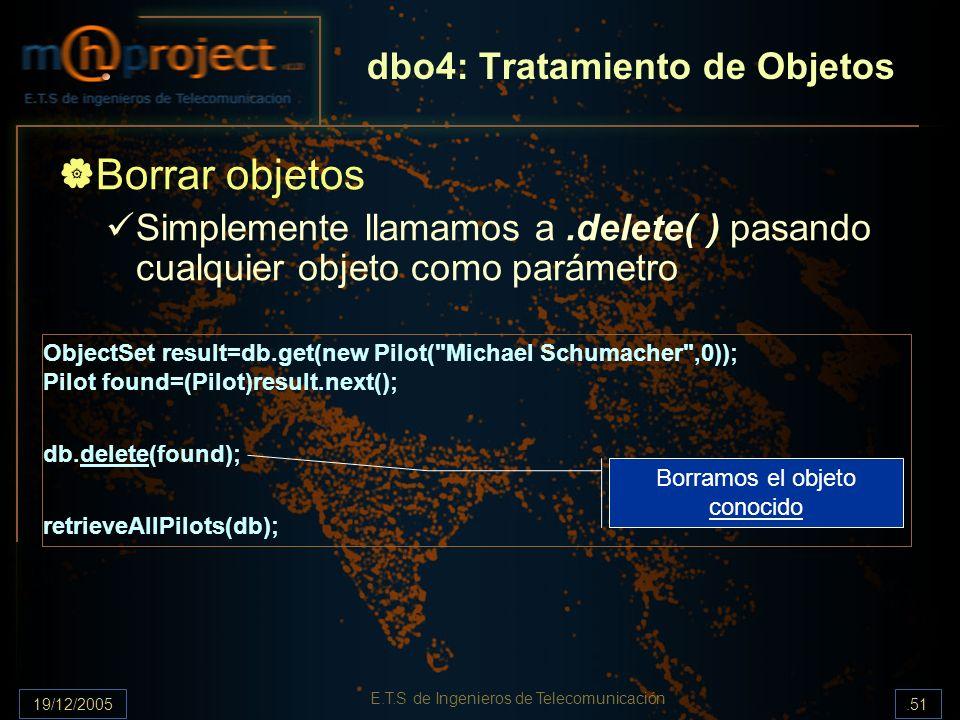 dbo4: Tratamiento de Objetos