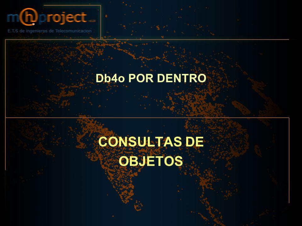 Db4o POR DENTRO CONSULTAS DE OBJETOS