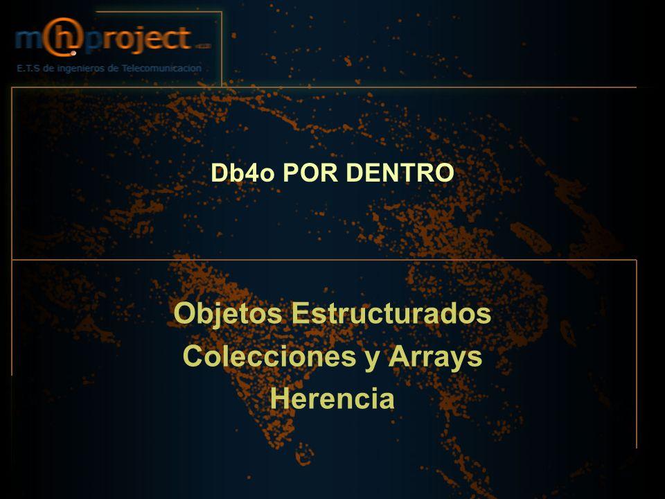 Objetos Estructurados Colecciones y Arrays Herencia