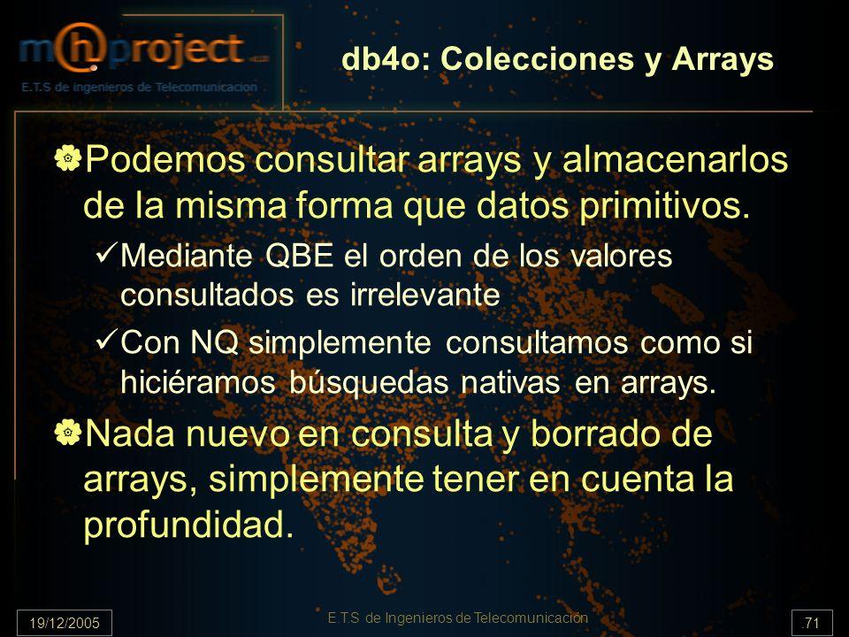 db4o: Colecciones y Arrays