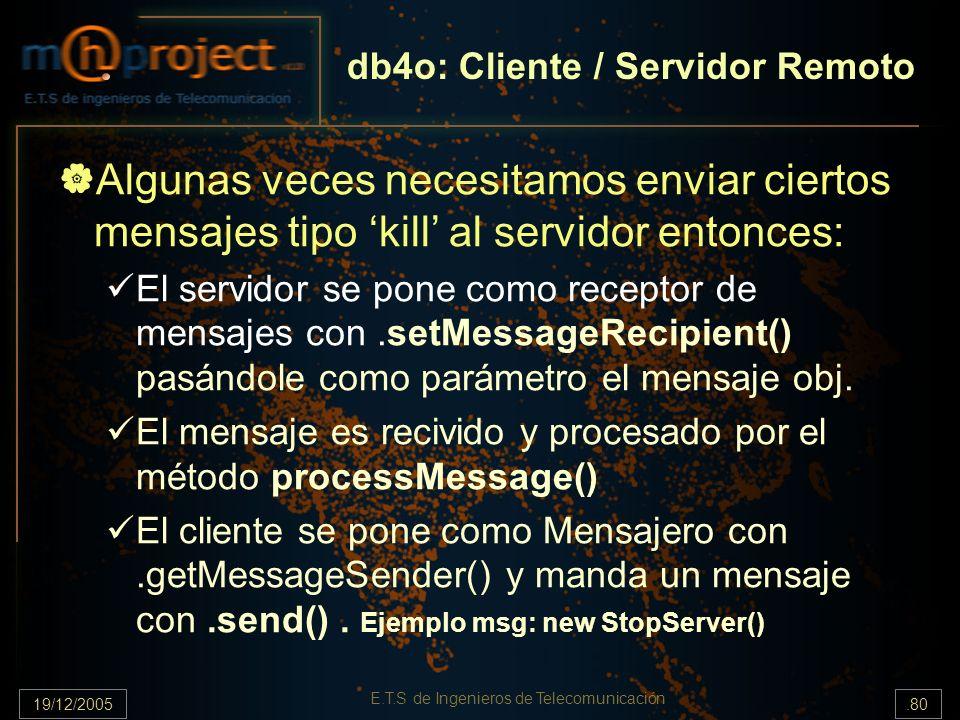db4o: Cliente / Servidor Remoto