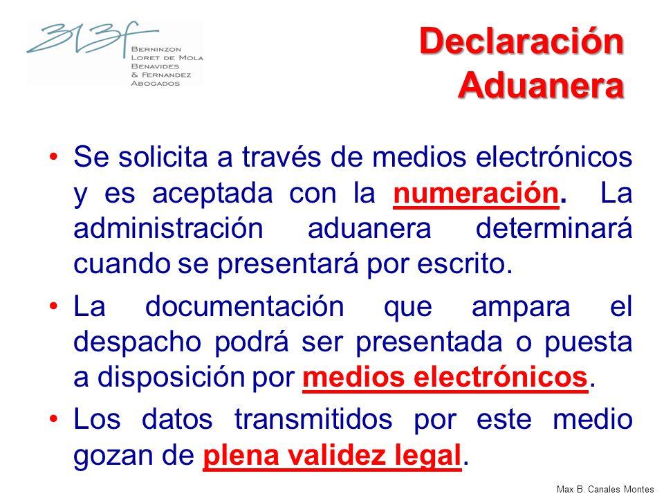 Declaración Aduanera