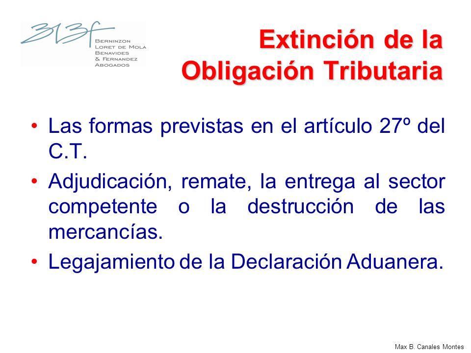Extinción de la Obligación Tributaria