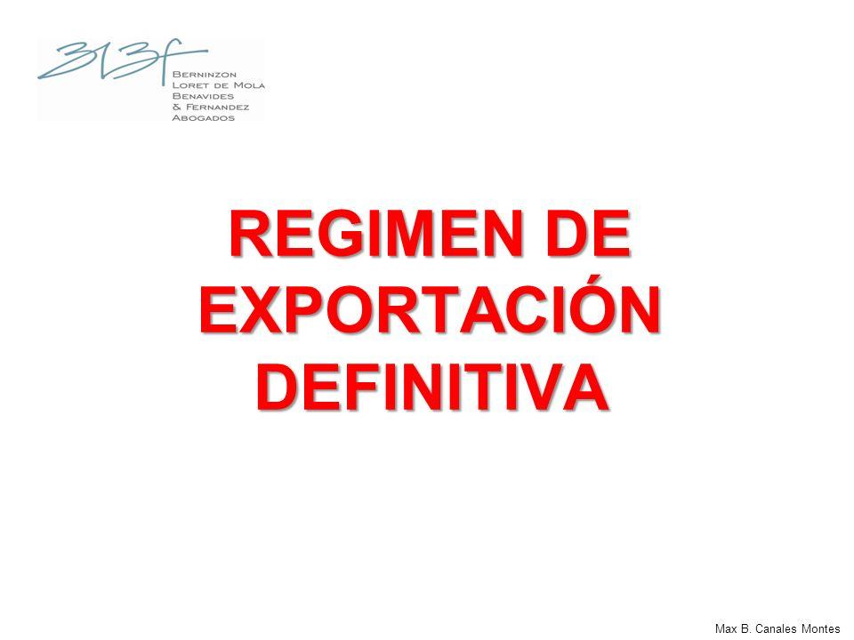 REGIMEN DE EXPORTACIÓN DEFINITIVA