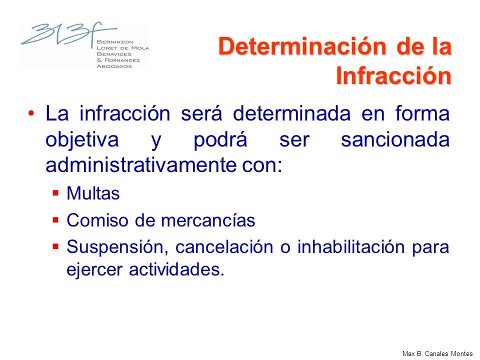 Determinación de la Infracción