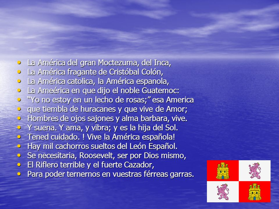 La América del gran Moctezuma, del Inca,
