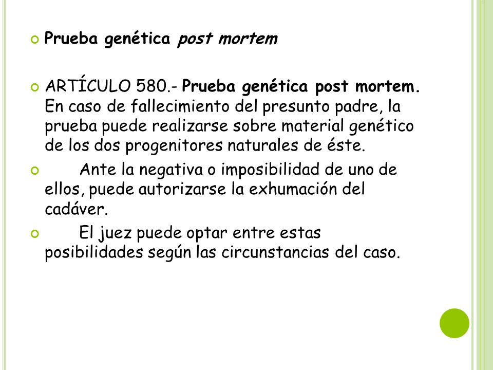 Prueba genética post mortem