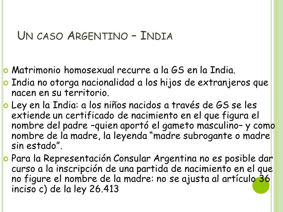 Un caso Argentino – India