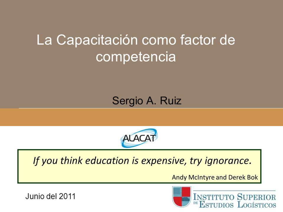 La Capacitación como factor de competencia