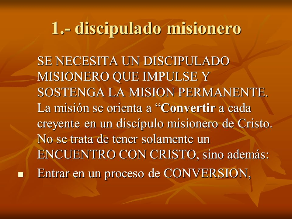 1.- discipulado misionero