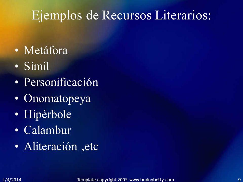 Ejemplos de Recursos Literarios: